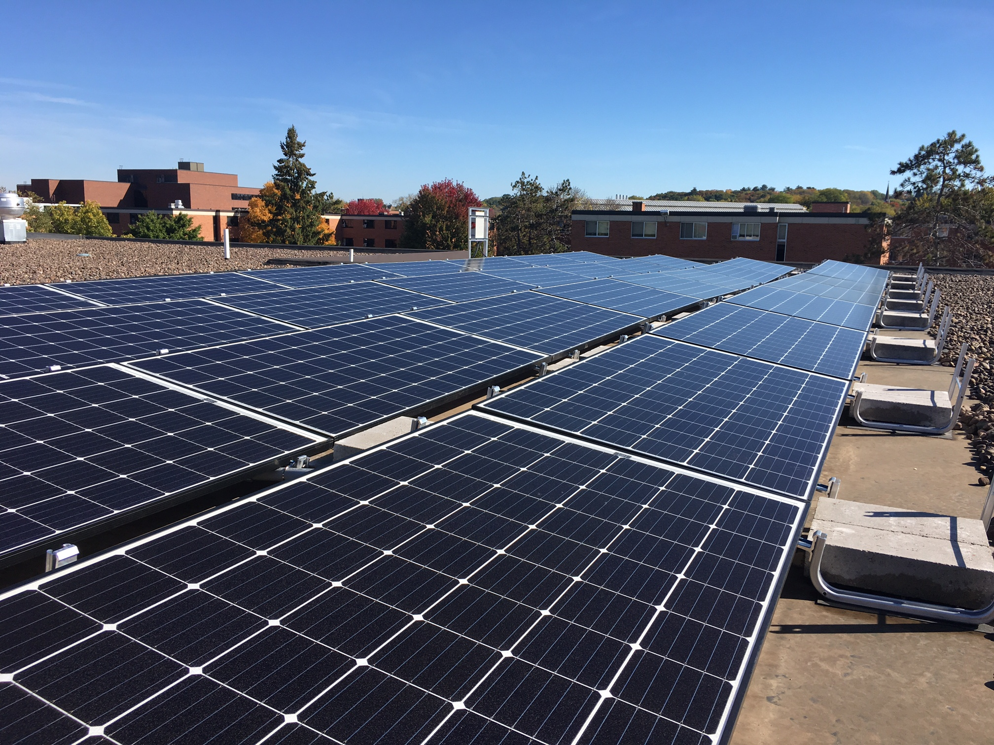 UW-Stout Price Commons Solar Panels