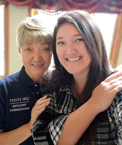 Pyong Garney, left, and daughter Erin Garney