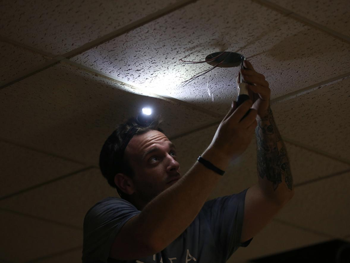 LED lights are being in stalled in 10 buildings and at outdoor locations across campus.