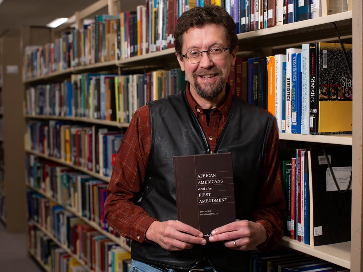 "UW-Stout Professor Tim Shiell has authored a new book, ""African Americans and the First Amendment."""