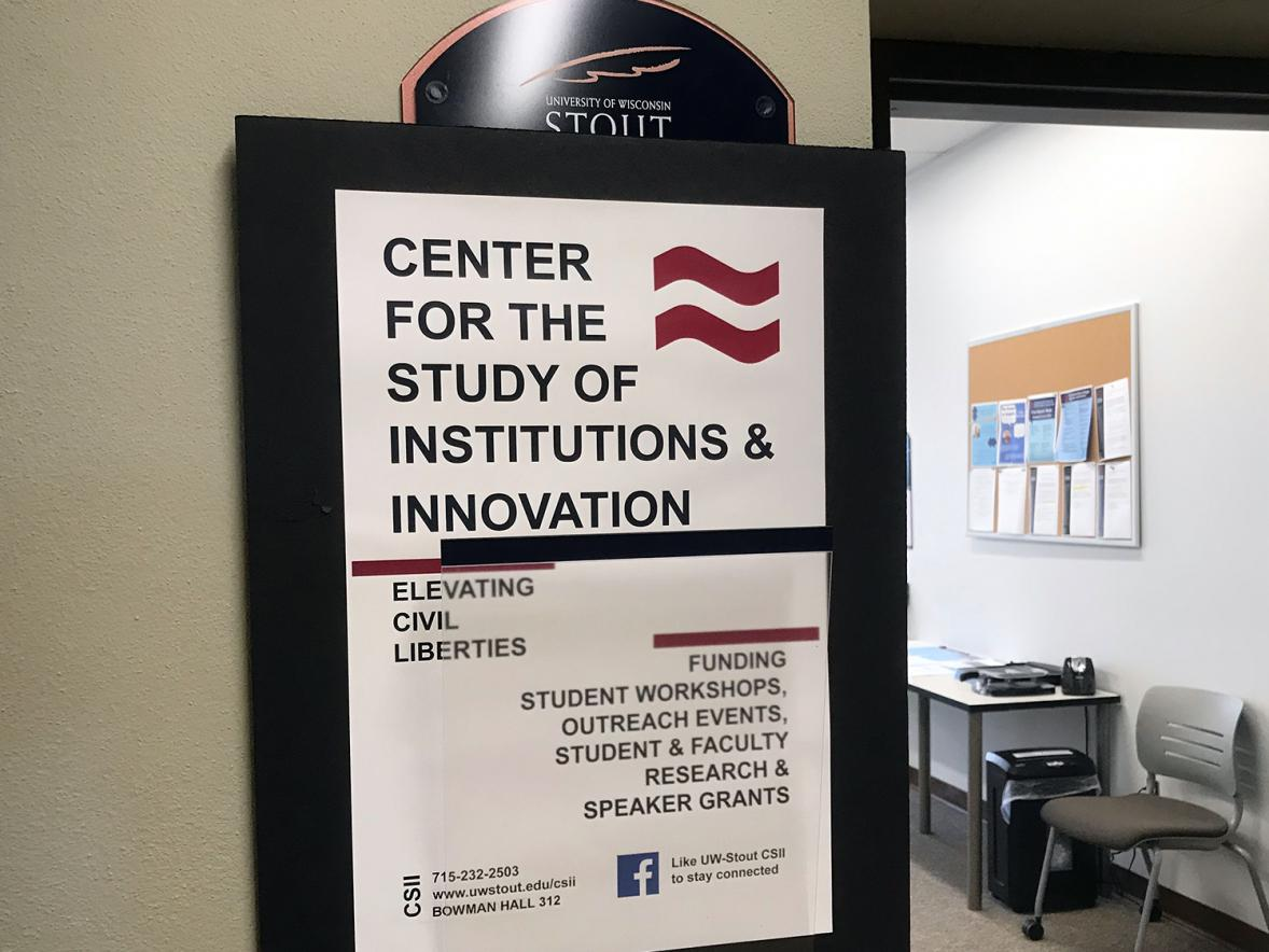 The UW-Stout Center for the Study of Institutions and Innovation in Bowman Hall will be renamed the Menard Center for the Study of Institutions and Innovation.