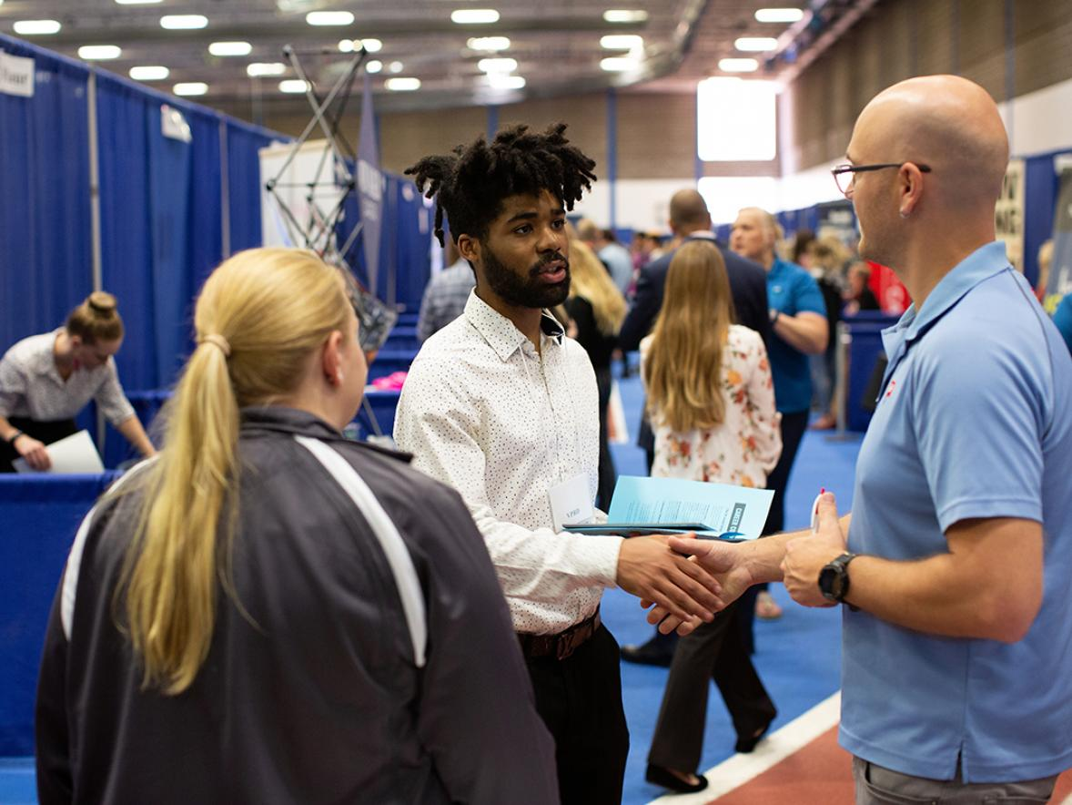 Student at Fall Career Conference
