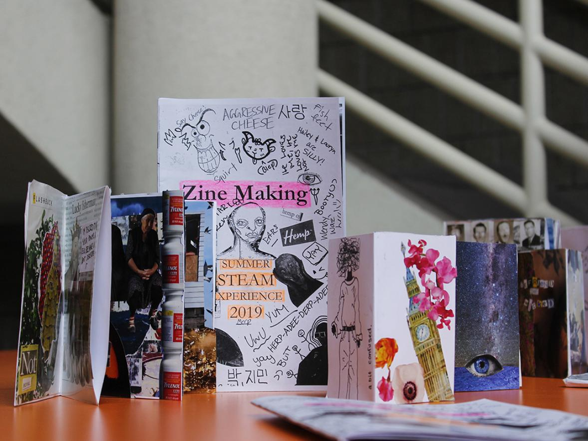 Summer STEAM Experience students will create 'zines that share personal stories or self-portrait narratives.