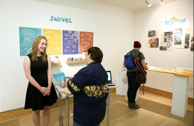 About 100 graduating seniors exhibit their work at the School of Art and Design's annual Senior Show in the Applied Arts building Friday, May 5, 2017. (UW-Stout Photo by Brett T. Roseman)