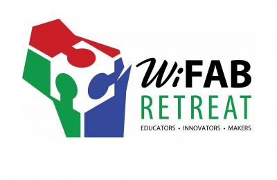 WiFAB Retreat logo, green option with no date.
